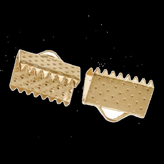 Lintklem (10 mm) Goud (20 Stuks)