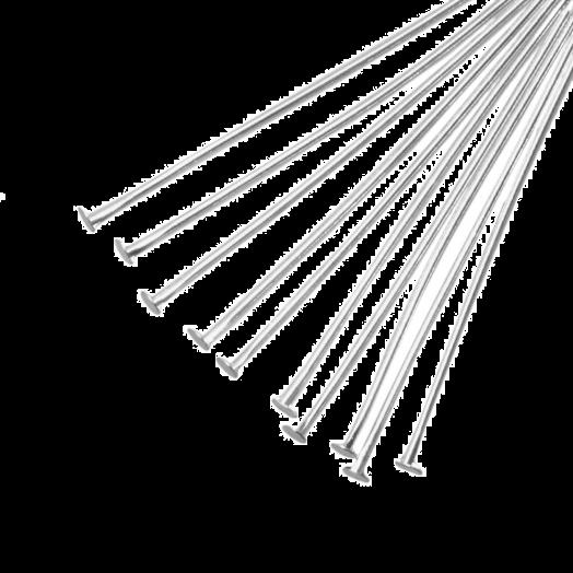 Nietstiften (50 mm) Antiek Zilver (100 Stuks)