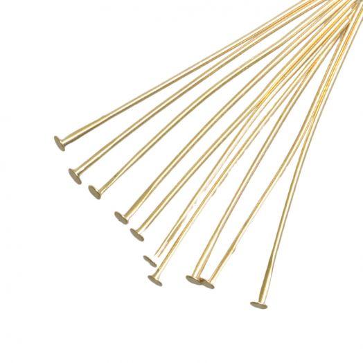 Nietstiften (50 mm) Goud (100 Stuks)