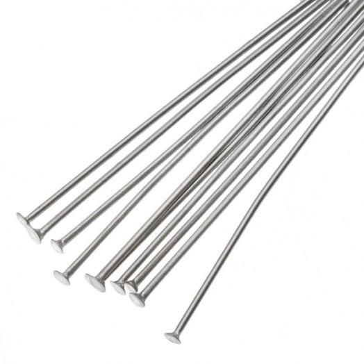 Stainless Steel Nietstiften (35 mm) Antiek Zilver (100 Stuks)