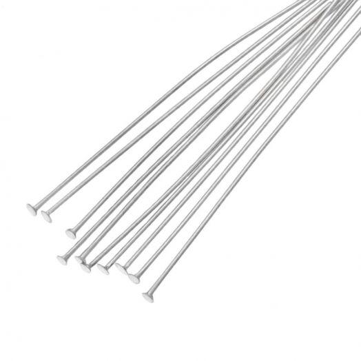 Stainless Steel Nietstiften (50 mm) Antiek Zilver (100 Stuks)