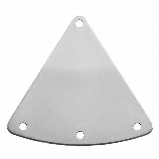 Stainless Steel Tussenstuk 2 Ogen (27 x 30 mm) Antiek Zilver (10 Stuks)