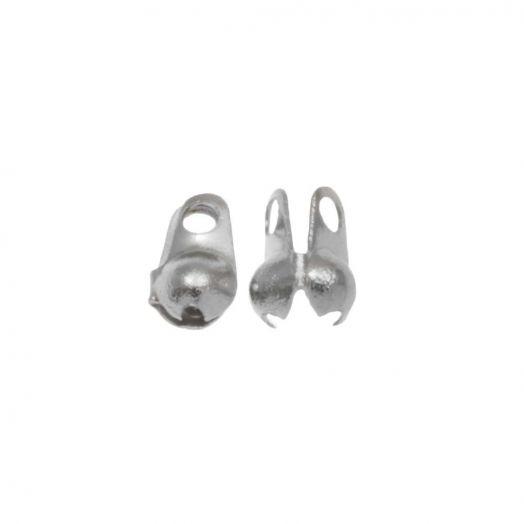 Stainless Steel Bolletjesketting Connector (2 mm) Antiek Zilver (25 Stuks)