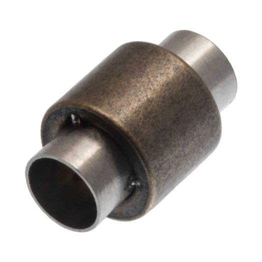 Stainless Steel Magneetslot (Binnenmaat 6 mm) Antiek Brons (1 Stuk)