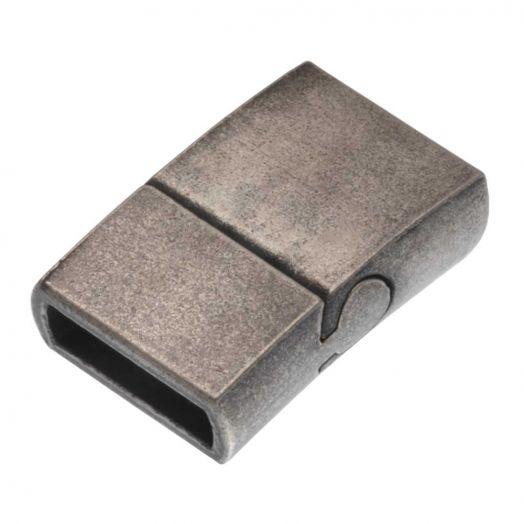 Stainless Steel Magneetslot Mat (Binnenmaat 10 x 3 mm) Gunmetal (1 Stuk)