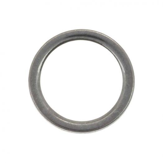Stainless Steel Gesloten Ringen (buitenmaat 10 mm binnenmaat 8 mm) Antiek Zilver (20 stuks)