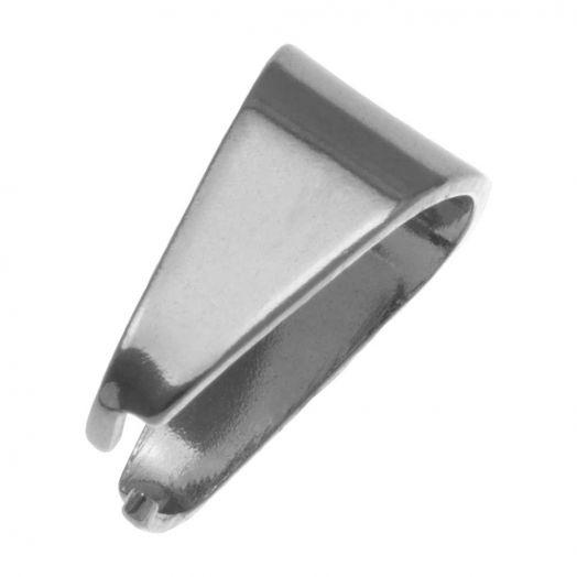 Stainless Steel Bedel Hanger (13 x 12 mm) Antiek Zilver (20 Stuks)