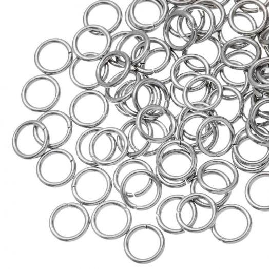 Stainless Steel Buigringen (6 mm) Antiek Zilver (100 Stuks) Dikte 1.2 mm