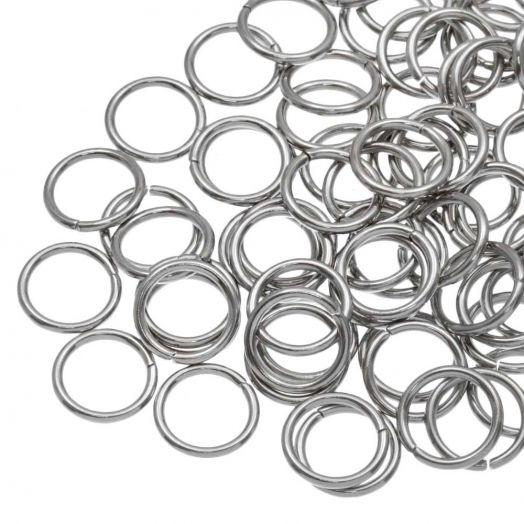 Stainless Steel Buigringen (10 mm) Antiek Zilver (100 Stuks) Dikte 1.2 mm