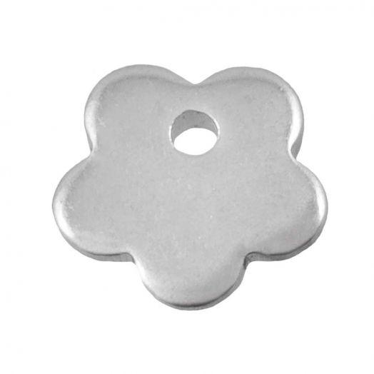 Stainless Steel Bedel Bloem (7 x 7 mm) Antiek Zilver (25 Stuks)