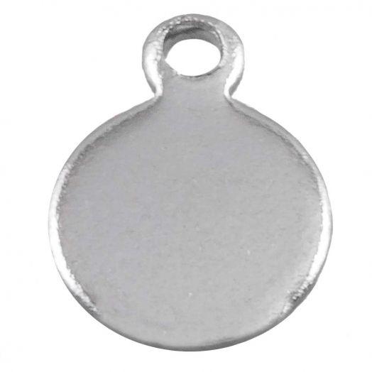 Stainless Steel Bedel (9 x 7 mm) Antiek Zilver (50 Stuks)