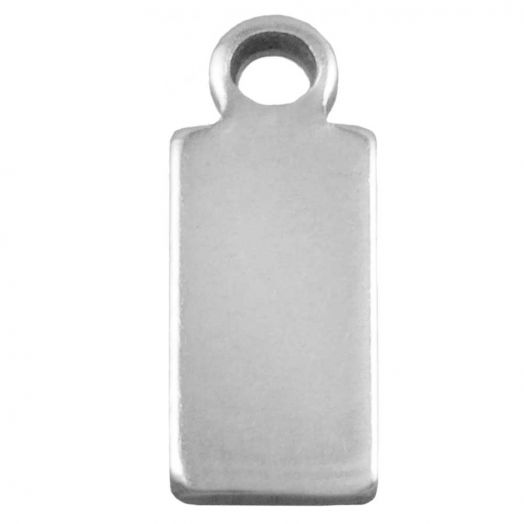 Stainless Steel Bedel (10 x 4 mm) Antiek Zilver (100 Stuks)