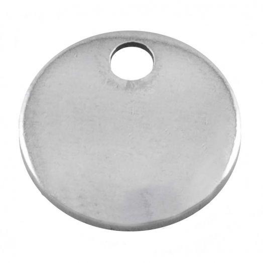 Stainless Steel Bedel (10 mm) Antiek Zilver (100 Stuks)