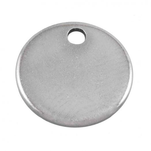 Stainless Steel Bedel (8 mm) Antiek Zilver (100 Stuks)