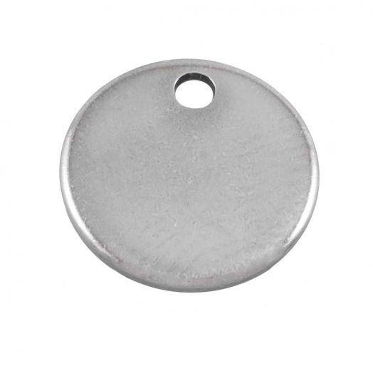 Stainless Steel Bedel (7 mm) Antiek Zilver (100 Stuks)