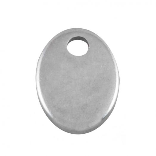 Stainless Steel Bedel (7 x 5 mm) Antiek Zilver (100 Stuks)