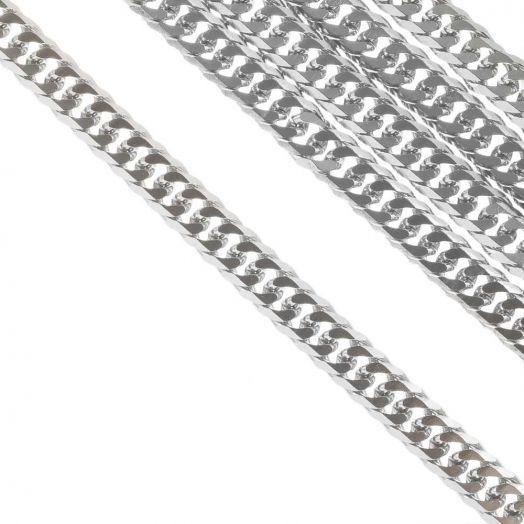 Stainless Steel Jasseron (8 x 6 mm) Antiek Zilver (2.5 Meter)