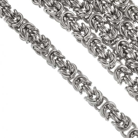 Stainless Steel Jasseron (6 mm) Antiek Zilver (1 Meter)