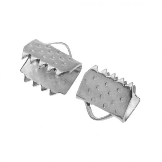 Stainless Steel Lintklem (5 mm) Antiek Zilver (20 Stuks)