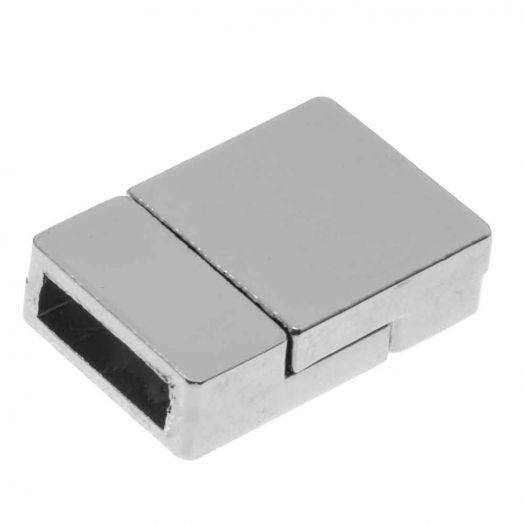 Magneetslot (binnenmaat 10 x 3 mm) Antiek Zilver (1 Stuk)