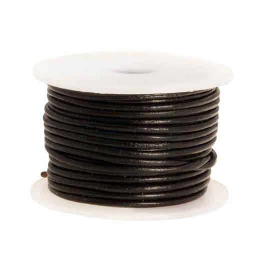 DQ leer Regular (1 mm) Black (10 Meter)