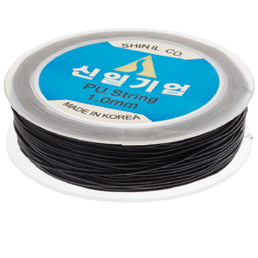 Top Kwaliteit Elastiek (1 mm) Black (25 Meter)