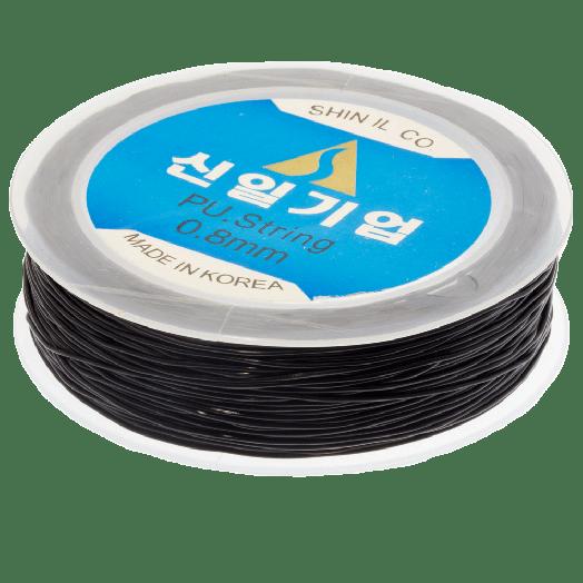 Top Kwaliteit Elastiek (0,8 mm) Black (35 Meter)