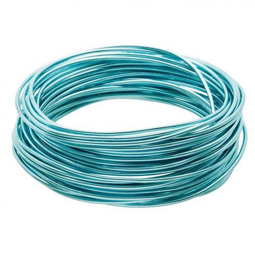 Aluminium Wire (2 mm) Aqua Blue (10 Meter)