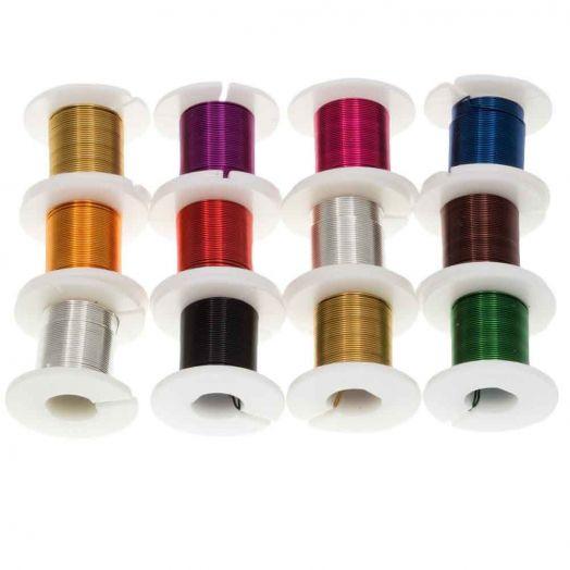Koperdraad (0.40 mm) Mix Color (12 x 2.75 Meter)