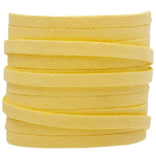 Faux Suede Veter (5 mm) Yellow (5 Meter)