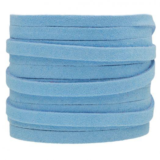 Faux Suede Veter (5 mm) Baby Blue (5 Meter)