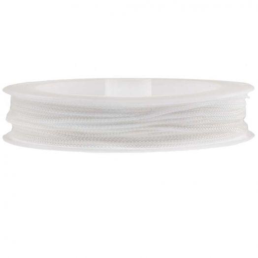 Nylon Koord (0.5 mm) White (25 Meter)