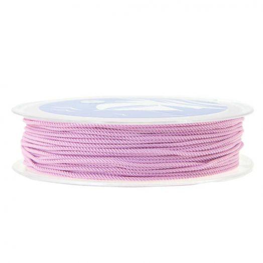 Twisted Nylon Koord (1 mm) Vintage Pink (15 Meter)