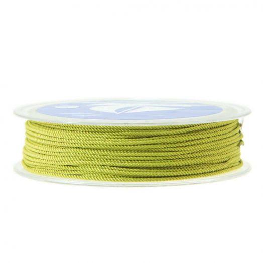 Twisted Nylon Koord (1 mm) Bright Olive (15 Meter)