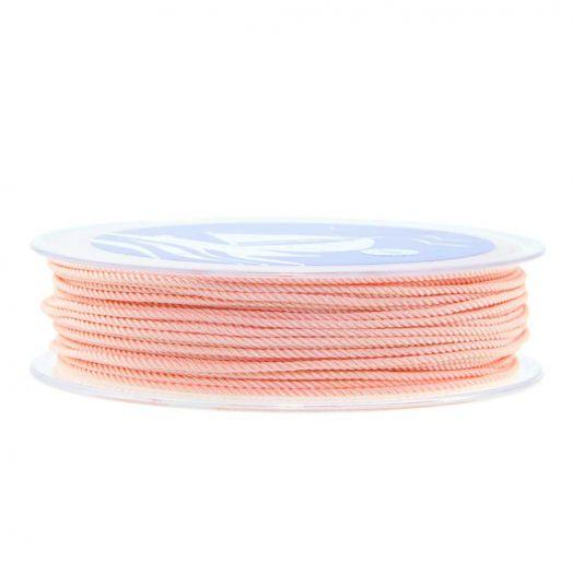 Twisted Nylon Koord (1 mm) Light Salmon (15 Meter)