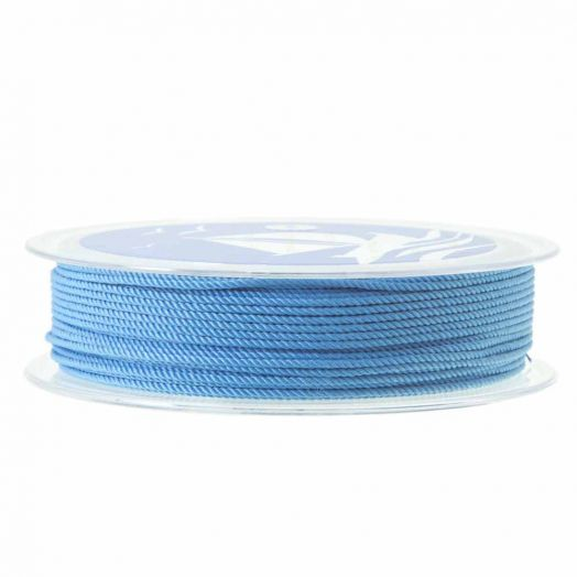 Twisted Nylon Koord (1 mm) Water Blue (15 Meter)