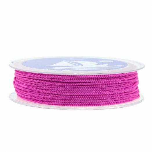Twisted Nylon Koord (1 mm) Magenta (15 Meter)