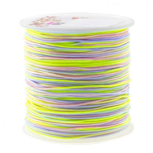 Nylon Koord (1 mm) Mix Color - Neon (100 meter)