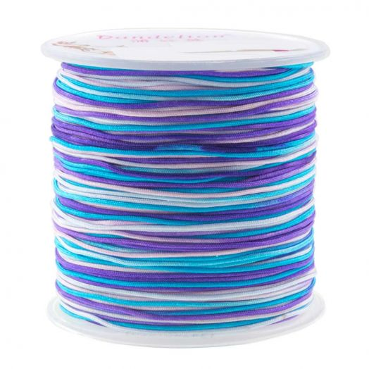 Nylon Koord (1 mm) Mix Color - Shades of Blue (100 meter)