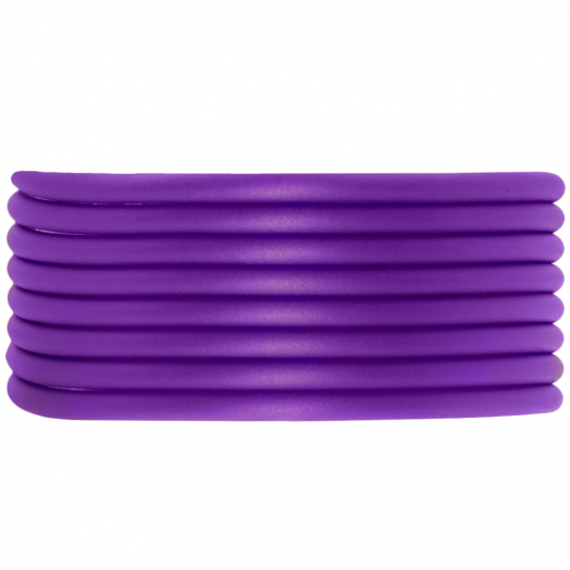 Rubber Koord (3 mm) Perfect Purple (5 Meter) holle binnenkant