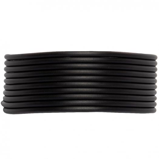 Rubber Koord (2 mm) Black (5 Meter) holle binnenkant