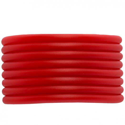 Rubber Koord (4 mm) Bright Red (5 Meter) holle binnenkant