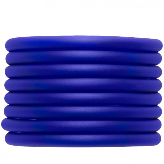 Rubber Koord (5 mm) Royal Blue (2 Meter) holle binnenkant