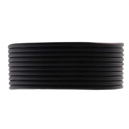 Rubber Koord (2 mm) Black (5 Meter)