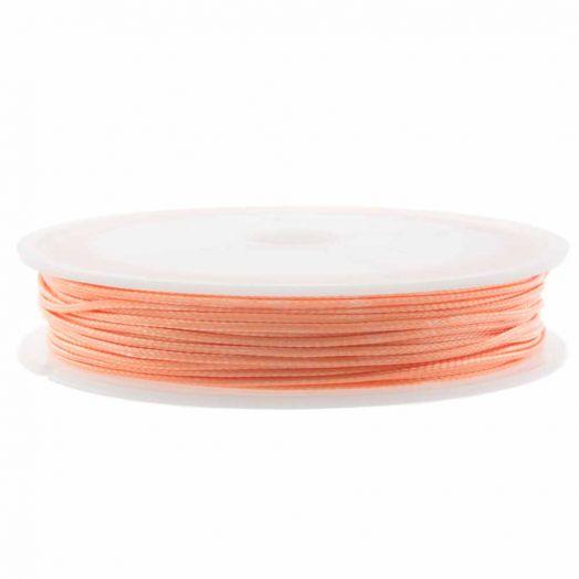 Waxkoord Polyester (1 mm) Coral Pink (15 Meter)