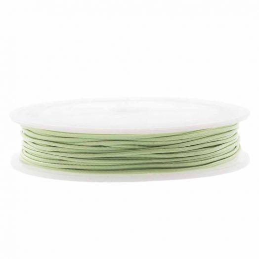 Waxkoord Polyester (1.5 mm) Pistachio Green (10 Meter)
