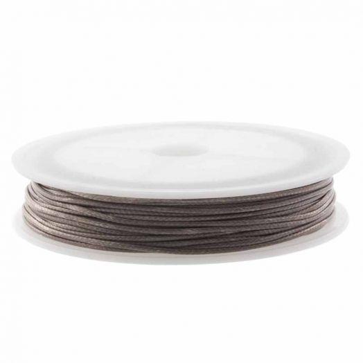 Waxkoord Polyester (1.5 mm) Pecan Brown (10 Meter)