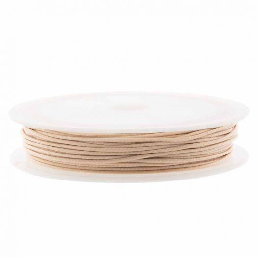 Waxkoord Polyester (1 mm) Nude (15 Meter)