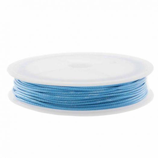 Waxkoord Polyester (1 mm) Sky Blue (15 Meter)