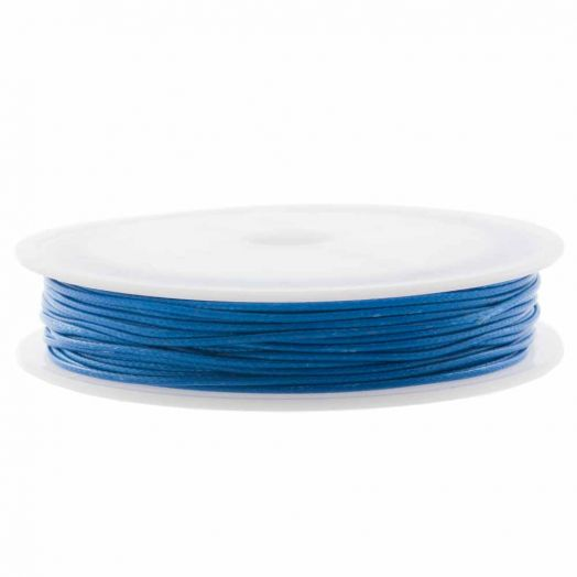 Waxkoord Polyester (0.5 mm) Cobalt Blue (25 Meter)